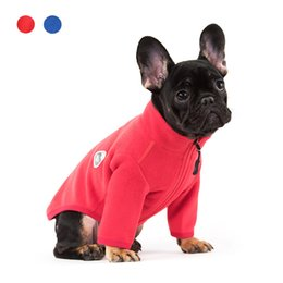 clothes pugs UK - Fleece Pet Dog Coat Winter Cat Dog Clothes Jacket For Dogs Costume Small Medium Dogs Puppy Outfit XS-3XL Pet Apparel Pug Bulldog T200710