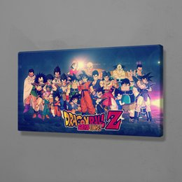 panel anime canvas prints Canada - HD Prints Pictures Dragon Ball Home Decor Paintings Canvas Classical Anime Role Modular Poster For Bedroom Wall Art No Framework