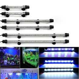 grow light strips UK - 110V Aquarium LED Lighting Submersible 12 15 21 LEDs Fish Tank Aquatic Plant Growing Lights SMD Bar Strip Lamp US Plug