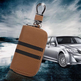 cowhide clutch wholesale Australia - Creative mosaic car Chain cover case Men's cowhide British style key case real leather key chain