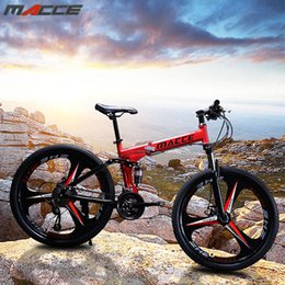 24 speed bikes NZ - 21-27 speed variable-speed bicycle Maixi mountain folding bike 24-26 inch front and rear double shock absorption
