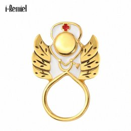angel wings brooch NZ - Angel Wings Red Cross Stethoscope Brooches for Women Men Brooch Jewelry Badge Pins Christmas Jewelry Gifts 0TvJ#