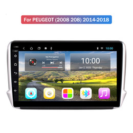 Wholesale Car Radio Android 9.0 HD 2.5D 10 inch Touch Screen 2+32G For PEUGEOT (2008 208) 2014-2018 GPS Navigator Multimedia Player Car Stereo