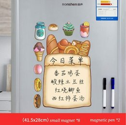 magnet cartoon Australia - Refrigerator Poster Message Poster Tile Personalized Creative Cartoon Home Decor Kitchen Refrigerator Whiteboard Erasable Whiteboard Magnet
