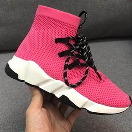 stretch canvas prints Canada - New Speed Sock Shoes High Quality Speed Sneakers Men Women Shoes Speed Stretch-knit Mid Boots Size Eur 35-44 Model s3