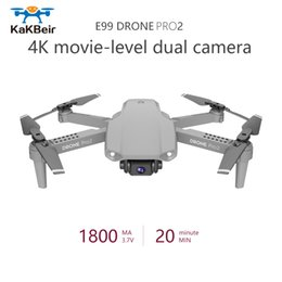 toys black Canada - KaKBeir E99Pro Mini Drone 4K1080P HD Camera WiFi Fpv Air Pressure Altitude Keep Gray and Black Foldable Quadcopter RC Drone Toy