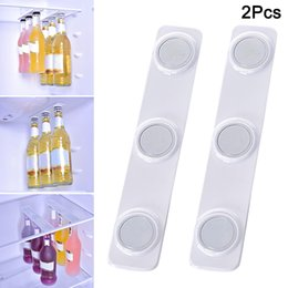 bottle magnets UK - 2pcs Bottle Jar Hanger Holder Magnet Refrigerator Fridge Durable Beer Storage Loft Organizer MU