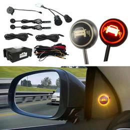Wholesale Car Black Blind Spot Monitoring Ultrasonic Sensor Distance Assist Lane Change Tool Blind Spot Mirror Radar Detection System