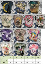 Wholesale cat t shirts for sale – custom Women s Graphic Cat Print Tee Cute Round Neck Short Sleeve Lounge T Shirt Tops Colors