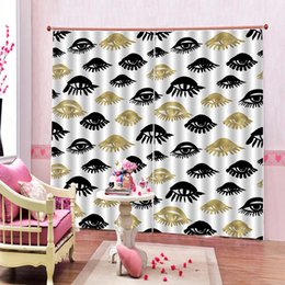 pictures hooks NZ - Photo Customized Eye window Curtain 3d Digital print For living room bedroom Picture pattern Blackout Window Drapes Sets 2 Panels With Hooks