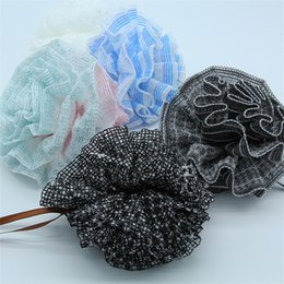 wholesale nylon fiber Australia - Pure Color Bath Ball Soft Nylon Polyester Fiber Concise Design Bathing Flower Strong Wear Resisting Durable 2 5jh ff