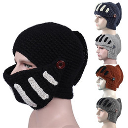 knight hair Canada - Men Novelty Mask Stretch Hat Fashion casual Roman Knight Knit Cap Hair Loss Head Scarf Wrap Soft and comfortable