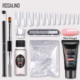 professional nail art kit set Canada - ROSALIND Polygel Nail Kit Of Nail Kit Professional Set Art Design Decorations Extension Polygel For Poly Gel