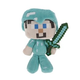 minecraft for toys UK - Minecraft Diamond Steve Plush Stuffed Toy Best Gift for Child and Collectors