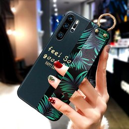 huawei flower Australia - P10 P20 P30 Pro Case 3D Fashion Art Leaf Flower TPU Wrist Strap Holder Cover for Huawei P30 Lite P Smart Z Mate 30 20 Pro Funda