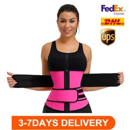 US STOCK, Men Women Shapers Waist Trainer Belt Corset Belly Slimming Shapewear Adjustable Waist Support Body Shapers FY8084 on Sale