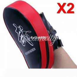 muay thai pads wholesale UK - Free Shipping 2pcs lot MMA Target Focus Punch Pads Boxing Mitts Training Glove Karate Muay Thai Kick
