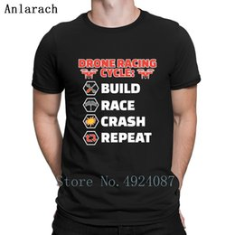 Drone Racing Cycle Build Race Crash Repeat T Shirt Family Custom Summer Top Men's T Shirts Spring Men Fashions Latest Fitness