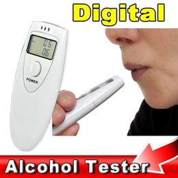 digital breath detector UK - Portable Mini LCD Display Tester Digital Alcohol Breath Tester Professional Breathalyzer Alcohol Meter Analyzer Detector Analyzers