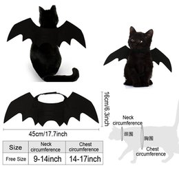 halloween costume wings UK - Vampire Black Cute Fancy Cat Dress Up Clothes Halloween Pet Dog Costumes Bat Wings Halloween Decor Thicken Pet Dog Cat Costume BH2340 TQQ