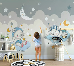 bicycle home decor 2020 - Bacal Customized modern fashion stereo wallpaper elephant riding bicycle cloud children room background wall papers home