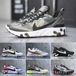 canvas sailing shoes Australia - React Element 87 Undercover Men Running Shoes For Women Designers Sneakers Sports Mens Trainer Shoes Sail Light Bone Royal Tint PD-5E