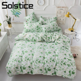 king springs Canada - Solstice Home Textile Green Spring Leaf Duvet Quilt Cover Pillowcase Flat Sheet Kid Teen Girl Bedding Set King Queen Twin 3 4Pcs