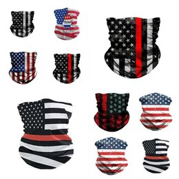 men face scarf mask Australia - new 3D American flag mask men and women Sunscreen Magic Scarf face mask Festive riding mask Festive Party Masks T2I51162