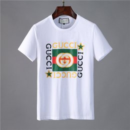 paired t shirts Canada - mens summer t shirts mens 2020 paris style clothes letter printed new pairs classic women men shirt crew neck clothes 2208#