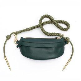 leather rope women belt NZ - Women's Waist Bag Quality PU leather Rope Knot Fanny Pack Bananka Travel Leisure bum bag Women Catwalk Belly Band Belt bag CX200713