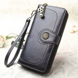 passport case women Australia - Fashion Women Lady Clutch Leather Wallet Long Card Holder Phone Bag Case Purse Black Blue Brown Orange Yellow Wine Red