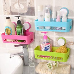 double suction cups UK - L18gs Kitchen double suction cup draining basket seamless punching-free Rack rackSucker rackstorage rack bathroom bathroom suction wall stor