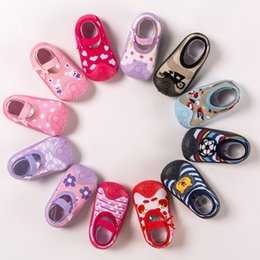boys toddlers socks UK - Baby Indoor Shoes Non-slip Baby Socks Shoes Newborn Toddler Soft Rubber Bottom Floor Socks