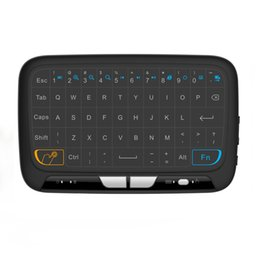 wireless keyboard for linux UK - Newest H18 Mini 2.4G Wireless Keyboard With Touchpad air Mouse for Windows Android Google Smart TV Linux MAG 250 Mac
