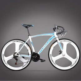 bicycle 27 NZ - New Brand Road Bike Carbon Steel Frame 700CC Wheel 21 27 Speed Dual Disc Brake Bicicleta Outdoor Cycling Bicycle
