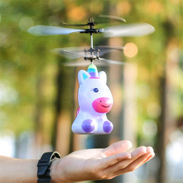 Robot induction aircraft floating toys charging lights night market stalls selling toughness safety novelty toys children's toys on Sale