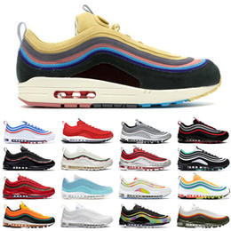 x bullet Canada - Sean Wotherspoon 97 men women outdoor shoes MSCHF x INRI Jesus Game Royal Silver Bullet 97s Reflective Bred mens trainer sneakers 36-45