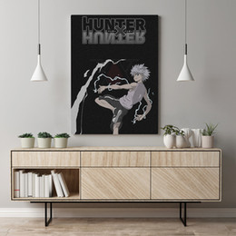 canvas prints frame Canada - Canvas Painting Hd Hunter X Hunter Printed Home Decoration Japan Animation Role Pictures Poster Wall Art For Living Room Frame