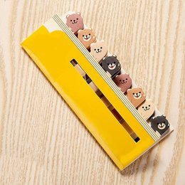 kawaii post notes UK - Kawaii Memo Pad Bookmarks Creative Cute Animal Sticky Notes Index Posted It Planner Stationery School Supplies Paper Stickers