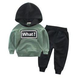 girls hooded tracksuits UK - Clothing Sets Children Boys Girls Fashion Clothes Kids Toddler Tracksuit Autumn Baby Hoodies And Pants Suits Sport