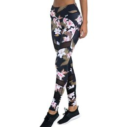 bodycon yoga pants UK - Vintage Women Daily Leisure Stretch Trousers Personality Printing Comfort Soft Casual Pencil Pants Bodycon Yoga Pants