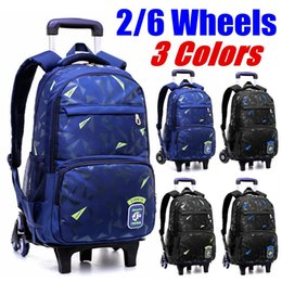 kids backpacks wheels Australia - 2020 NEW Waterproof Removable Children School Bags With 2 6 Wheels Stairs Kids Trolley Schoolbag Book Bags boys girls Backpack