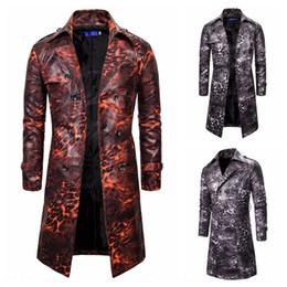 Wholesale leopard trench coat men for sale - Group buy 19 Windbreaker Coat new trendy European style men s leopard print trendy double breasted personalized long trench coat