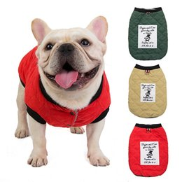 bulldog clothes 2020 - Winter Pet Dog Coat Vest Warm Down Jacket Windproof Puppy Coat Hoodies Clothes For Small Chihuahua French Bulldog Clothi