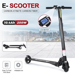 electric skateboard battery UK - Spain Warehouse Accolmile 2020 Newest 250W Electric Scooter Carbon Fiber Skateboard Mini Foldable Scooter with 30km 10.4Ah Quality Battery