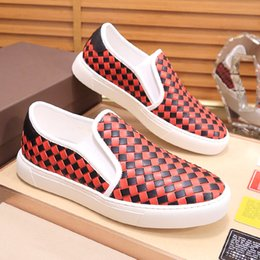 high quality weaves Australia - New high-quality outdoor casual shoes, pea woven leather breathable casual shoes set up fashion trend youth business wedding shoes, QWy