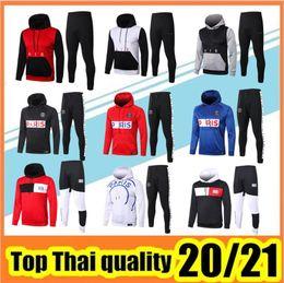 Wholesale soccer hoodies men online – oversize 2020 paris hoodie soccer jacket MBAPPE CAVANI tracksuit football jacket VERRATTI Survêtement Jordam X hoodie Football sweater