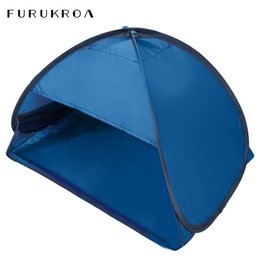 open beach tent Australia - 2020 New Beach Shade Portable Small Awning Summer Outdoor Face Tent Full Automatic 2 seconds Quick Opening Tent Headrest X146B