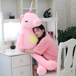 stuffed animal stuffing Canada - Hot 2020 arrival large unicorn plush toys cute rainbow horse soft doll stuffed animal best toys for children girl gift christmas MX200716