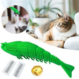 eco pet supplies NZ - Cat Interactive Toy Stick Cat Shrimp Toothbrush Pet Eco-Friendly Silicone Molar Stick Teeth Cleaning Toy Teaser Supplies
